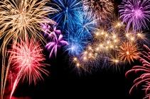 Stimmungsvolles Feuerwerk