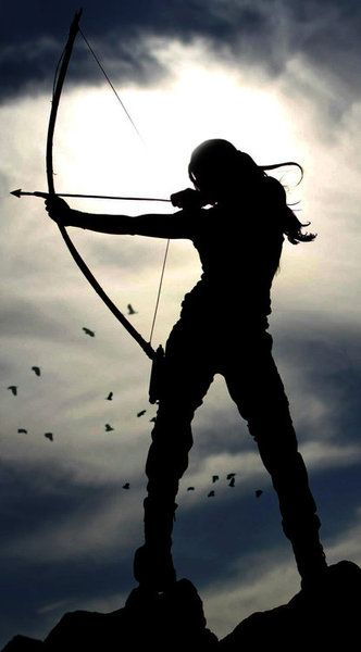 archer shooting arrows